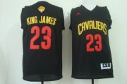 Wholesale Cheap Men's Cleveland Cavaliers #23 King James Nickname 2017 The NBA Finals Patch Black Fashion Jersey