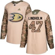 Wholesale Cheap Adidas Ducks #47 Hampus Lindholm Camo Authentic 2017 Veterans Day Stitched NHL Jersey