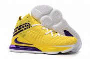 Wholesale Cheap Nike Lebron James 17 Air Cushion Shoes Fluorescent Yellow Purple