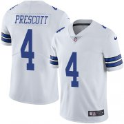 Wholesale Cheap Nike Cowboys #4 Dak Prescott White Youth Stitched NFL Vapor Untouchable Limited Jersey