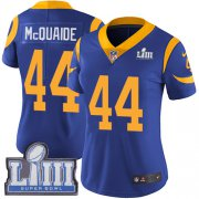 Wholesale Cheap Nike Rams #44 Jacob McQuaide Royal Blue Alternate Super Bowl LIII Bound Women's Stitched NFL Vapor Untouchable Limited Jersey