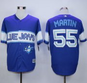 Wholesale Cheap Blue Jays #55 Russell Martin Blue Exclusive New Cool Base Stitched MLB Jersey