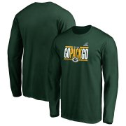 Wholesale Cheap Green Bay Packers 2019 NFL Playoffs Bound Hometown Checkdown Long Sleeve T-Shirt Green