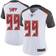 Wholesale Cheap Nike Buccaneers #99 Warren Sapp White Women's Stitched NFL Vapor Untouchable Limited Jersey