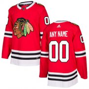 Wholesale Cheap Men's Adidas Blackhawks Personalized Authentic Red Home NHL Jersey