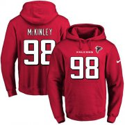 Wholesale Cheap Nike Falcons #98 Takkarist McKinley Red Name & Number Pullover NFL Hoodie