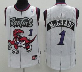 Wholesale Cheap Toronto Raptors #1 Tracy McGrady Hardwood Classic White Swingman Jersey