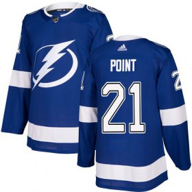 Wholesale Cheap Adidas Lightning #21 Brayden Point Blue Home Authentic Stitched NHL Jersey