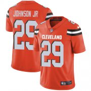 Wholesale Cheap Nike Browns #29 Duke Johnson Jr Orange Alternate Men's Stitched NFL Vapor Untouchable Limited Jersey