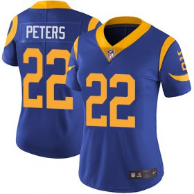 Wholesale Cheap Nike Rams #22 Marcus Peters Royal Blue Alternate Women\'s Stitched NFL Vapor Untouchable Limited Jersey