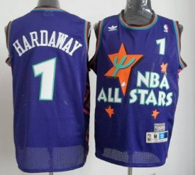 Wholesale Cheap NBA 1995 All-Star #1 Penny Hardaway Purple Swingman Throwback Jersey