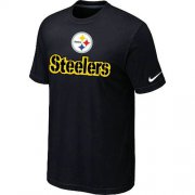 Wholesale Cheap Nike Pittsburgh Steelers Authentic Logo NFL T-Shirt Black