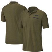 Wholesale Cheap Denver Broncos Nike Salute to Service Sideline Polo Olive