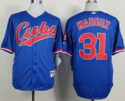 Wholesale Cheap Cubs #31 Greg Maddux Blue 1994 Turn Back The Clock Stitched MLB Jersey
