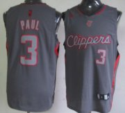 Wholesale Cheap Los Angeles Clippers #3 Chris Paul Gray Shadow Jersey