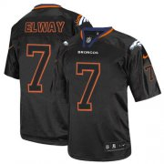 Wholesale Cheap Nike Broncos #7 John Elway Lights Out Black Youth Stitched NFL Elite Jersey