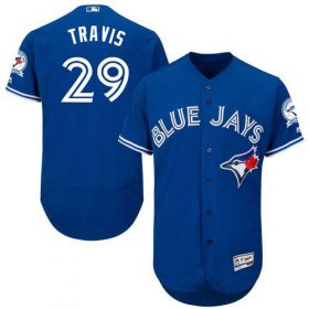 Wholesale Cheap Blue Jays #29 Devon Travis Blue Flexbase Authentic Collection Stitched MLB Jersey