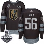 Wholesale Cheap Adidas Golden Knights #56 Erik Haula Black 1917-2017 100th Anniversary 2018 Stanley Cup Final Stitched NHL Jersey