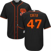 Wholesale Cheap Giants #47 Johnny Cueto Black New Cool Base Alternate Stitched MLB Jersey