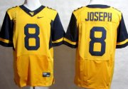 Wholesale Cheap West Virginia Mountaineers #8 Karl Joseph 2013 Yellow Elite Jersey