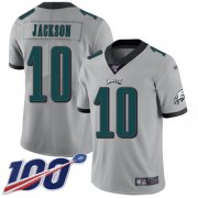 Wholesale Cheap Nike Eagles #10 DeSean Jackson Silver Men's Stitched NFL Limited Inverted Legend 100th Season Jersey