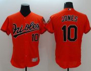 Wholesale Cheap Orioles #10 Adam Jones Orange Flexbase Authentic Collection Stitched MLB Jersey