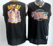 Wholesale Cheap Los Angeles Lakers #24 Kobe Bryant Black Notorious Fashion Jersey