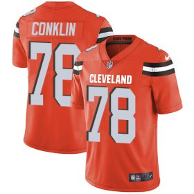 Wholesale Cheap Nike Browns #78 Jack Conklin Orange Alternate Youth Stitched NFL Vapor Untouchable Limited Jersey