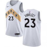 Wholesale Cheap Nike Raptors #23 Fred VanVleet White NBA Swingman City Edition Jersey