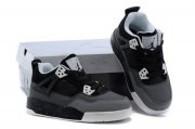 Wholesale Cheap Air Jordan 4 (IV) Kids Shoes Black/white