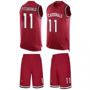 Wholesale Cheap Nike Cardinals #11 Larry Fitzgerald Red Team Color Men's Stitched NFL Limited Tank Top Suit Jersey