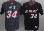Wholesale Cheap Miami Heat #34 Ray Allen Revolution 30 Swingman 2014 Noche Latina Black Jersey