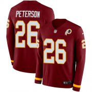 Wholesale Cheap Nike Redskins #26 Adrian Peterson Burgundy Red Team Color Men's Stitched NFL Limited Therma Long Sleeve Jersey