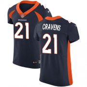 Wholesale Cheap Nike Broncos #21 Su'a Cravens Navy Blue Alternate Men's Stitched NFL Vapor Untouchable Elite Jersey