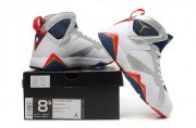 Wholesale Cheap Air Jordan 7 Retro Shoes white/blue-red-silver