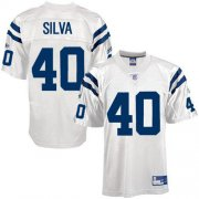 Wholesale Cheap Colts #40 Jamie Silva White Stitched NFL Jersey