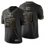 Wholesale Cheap Dallas Cowboys #50 Dean Lee Men's Nike Black Golden Limited NFL 100 Jersey