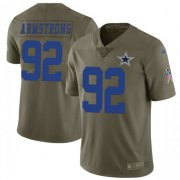 Wholesale Cheap Nike Cowboys #92 Dorance Armstrong Olive Men's Stitched NFL Limited 2017 Salute To Service Jersey