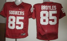 Wholesale Cheap Oklahoma Sooners #85 Ryan Broyles Red Jersey