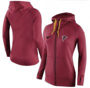 Wholesale Cheap Women's Nike Atlanta Falcons Full-Zip Performance Hoodie Red