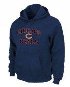Wholesale Cheap Chicago Bears Heart & Soul Pullover Hoodie Dark Blue