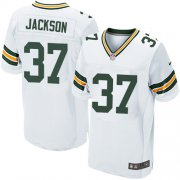 Wholesale Cheap Nike Packers #37 Josh Jackson White Men's Stitched NFL Elite Jersey