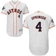 Wholesale Cheap Astros #4 George Springer White Flexbase Authentic Collection 2019 World Series Bound Stitched MLB Jersey