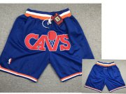 Wholesale Cheap Cavaliers Blue Just Don Mesh Throwback With Pocket Shorts