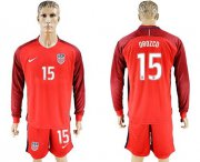 Wholesale Cheap USA #15 Orozco Away Long Sleeves Soccer Country Jersey