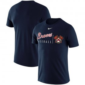 Wholesale Cheap Atlanta Braves Nike MLB Logo Practice T-Shirt Navy