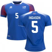 Wholesale Cheap Iceland #5 Ingason Home Soccer Country Jersey