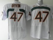 Wholesale Cheap Miami Hurricanes #47 Irvin White Jersey