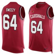 Wholesale Cheap Nike Cardinals #64 J.R. Sweezy Red Team Color Men's Stitched NFL Limited Tank Top Jersey