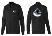 Wholesale NHL Vancouver Canucks Zip Jackets Black-1